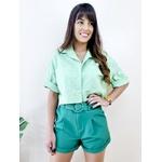 Cropped Camisa Fiorella - Verde Clara