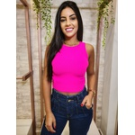 Cropped Tricot Maria - Rosa Neon
