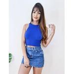 Cropped Maria - Azul Bic