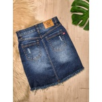 Saia Jeans - Lavagem Escura