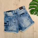 Short Jeans MC Manchado
