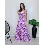 Vestido Nalu - Floral Lilás