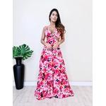 Vestido Nalu - Floral Azul com Rosa