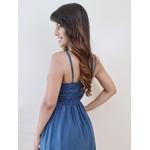 Vestido Curto Básico - Azul Petróleo