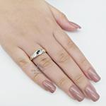Anel de Formatura Feminino em Prata com Pedra Navete
