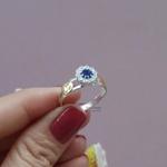Anel de Formatura Feminino em Prata Modelo Chuveirinho Vazado