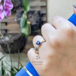 Anel de Formatura Feminino em Prata 950 com Pedras P285F