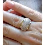 Anel De Prata 950 Feminino Pave 44 Com Pedras Zircônias