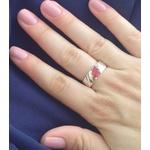 Anel Em Prata Feminino Com Pedra Zircônia Cor Rubi - 41025