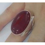 Anel De Prata 950 Feminino Com Pedra Natural - 43020dve