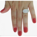 Anel Em Prata 950 Feminino Com Pave Pedras Zircônias - 39045