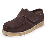 Sapato Velcro Marrom