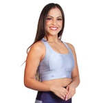 TOP CROPPED FITNESS LISO LUASAL AZUL