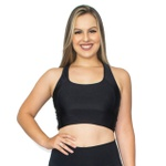 TOP CROPPED FITNESS LISO LUASAL PRETO