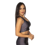 TOP CROPPED FITNESS LISO LUASAL CARBOX
