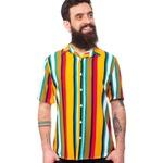 Camisa Estampada Listrada Unissex Venice - Mahs