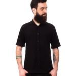 Camisa Visco Confort Preta Unissex Mahs