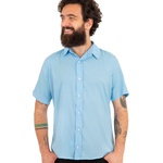 Camisa Visco Confort Azul