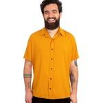Camisa Visco Confort Mostarda