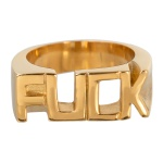 Anel Fuck Inoxidável Dourado