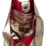 Bolsa Ombro Couro Ouro Light 512 Mia