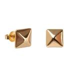 Brinco Pirâmide Semijoia Ouro - 1 PEÇA (Não é o par)