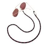 Cordão De Óculos Náutico Preto Com Rosa Fluor