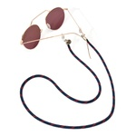 Cordão De Óculos Náutico Marinho Com Vermelho