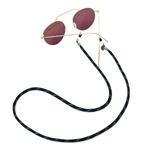 Cordão De Óculos Náutico Preto Com Azul