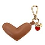 Chaveiro Coração Couro Legítimo Caramelo
