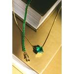 Colar Zircônia Turmalina 6x6mm Semijoia Ouro