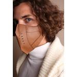 Máscara Couro Legítimo Caramelo Modelo 7.1