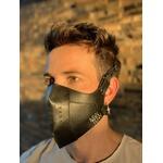 Máscara Couro Legítimo Preto Modelo 7.1