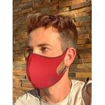 Máscara Espuma Lavável Bicolor Vermelho Cor 2.11