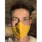 Máscara Tecido Lavável Bicolor Amarelo/Preto Cor 2.9