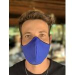 Máscara Tecido Lavável Bicolor Azul/Preto Cor 2.8