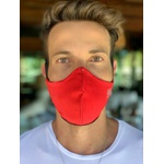 Máscara Tecido Lavável Bicolor Vermelho/Preto Cor 2.3