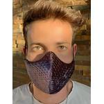 Máscara Tecido Lavável Estampada Losango Cinza Cor 5.11