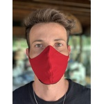 Máscara Tecido Lavável Monocromática Vinho Cor 6.2