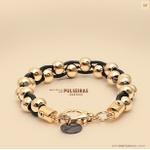Mp595 Pulseira Dourada Berloques