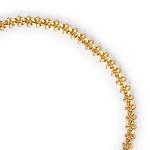 Pulseira Grumet Elos Trabalhados 3mm Semijoia Ouro