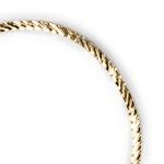 Pulseira Malha Serpente 2mm Semijoia Ouro