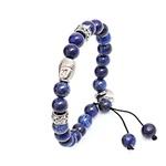 Pulseira Buda Mp639 Pedra Natural Lápis Lazuli