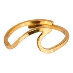 Anel Falange Regulável Onda Aço Inox Dourado