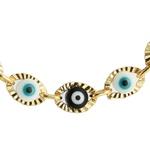 Pulseira Antialérgica Olho Grego P&B Ouro