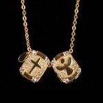 Escapulário Espírito Santo e Cruz Semijoia Ouro
