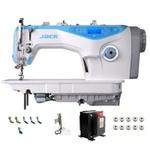 Maquina de costura reta jack a5 com carter blindado corte de linha 3,5 mm - 220 + kit de calcadores