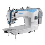 Máquina Reta Jack A2 Direct Drive e Corte de Linha Montada