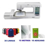 MÁQUINA DE BORDADOS BROTHER BP 2150L E KIT COM 20 LINHAS DE BORDAR RICAMARE