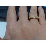 Anel Folheado a Ouro 18K Coração com Zircônias